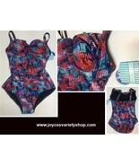 Shore Club Swimsuit Sz 20 NWT One Piece Multi-Color Lightly Padded - $16.99