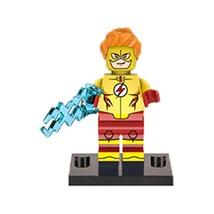1 Pcs Super Hero Figure Kid Flash With Weapon Fit Lego Block Minifigures... - $6.99