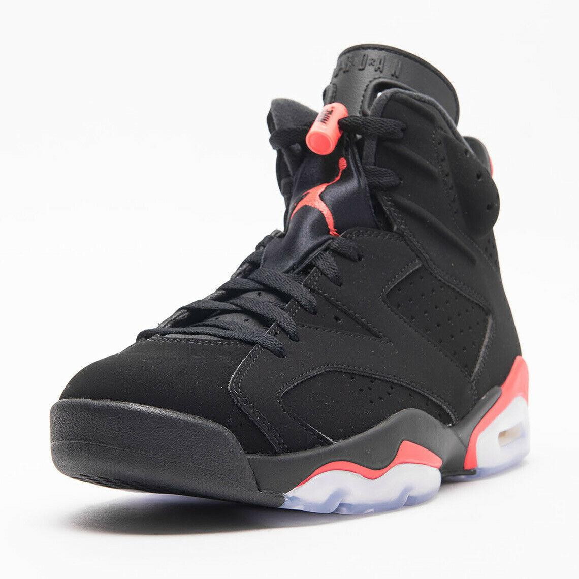 "best service f5dd0 d48e1 Air Jordan 6 Retro ""Infrared"" Black Infrared Sneakers 384664-060 Size 10"