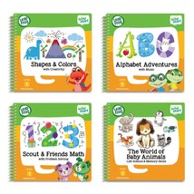 LeapFrog LeapStart Preschool 4-in-1Activity Book Bundle with ABC Shapes  - $66.69