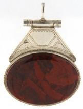 Red jasper Unisex .925 Silver Pendant - $69.00