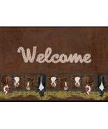 Welcome Cow Doormat, Farmhouse Greeting Entrance Door Mat, Non-slip Doormat - $29.65+