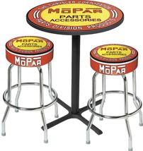 OER MD67506 1948-53 Mopar Orange/Yellow Logo Black Base Pub Table & Stoo... - $554.38