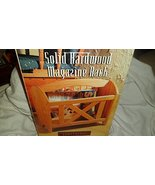 Trends Home Solid Hardwood Magazine Rack New Old Stock - $74.25
