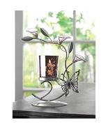 Candles BUTTERFLY LILY CANDLEHOLDER Candle Light Votive Tealight Silver ... - $18.51