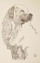 Great Pyrenees Signed Dog Art Lithograph Stephen Kline will draw dogs na... - $49.45
