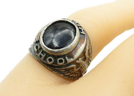 925 Sterling Silver - Vintage Petite Kyanite High School Class Ring Sz 5... - $34.55