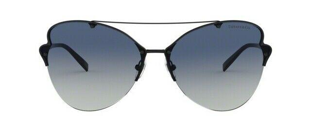 Tiffany & Co. TF3063 60074L Black Metal Frame Blue Gradient Sunglasses 64mm