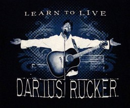 Darius Rucker Learn To Live Concert Tour 2009 Souvenir T Shirt S - $14.84