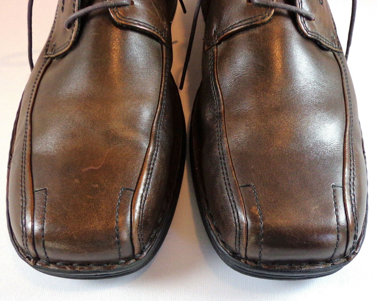 Clarks Oxford Mens Brown Leather Lace Up Shoes Size 13 M