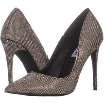 Steve Madden Daisie Pointed-Toe Pumps 052, Black/Pewter, 6.5 US - $24.95
