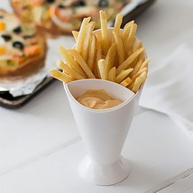 Snack Cone Stand + Removable Dip Holder For Fries Chips Finger Food Sauc... - $21.25