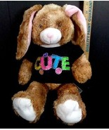 "Build A Bear Easter BUNNY Light Brown Rabbit 15"" Plush Stuffed Animal Cu... - $18.80"