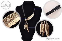 MEYFLINN Elegant Feathers Theme Ladies Necklace / Choker, Leather, CZ image 8