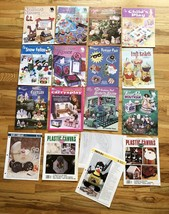 Lot 15 Plastic Canvas Books Patterns Fashion Doll Stained Glass Plant Po... - $19.79