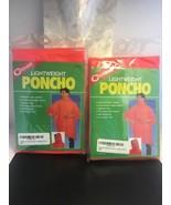 2 Coghlan's Lightweight Hooded Poncho Orange Raincoat Camping Hiking 9267 - $16.44