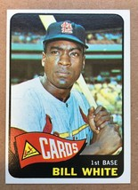 1965 Topps #190 Bill White Baseball Card NM Condition ST. Louis Cardinal... - $6.99