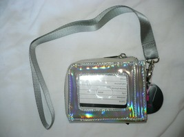 No Boundaries Ladies Lanyard Cardholder ID Holder Solid Iridescent NEW - €10,81 EUR