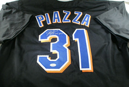 MIKE PIAZZA / MLB HALL OF FAME / AUTOGRAPHED NEW YORK METS CUSTOM JERSEY / COA image 1