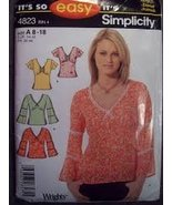 Simplicity It's So Easy Pattern 4823 Misses Tops with Variations Sizes 8-18 - $4.90
