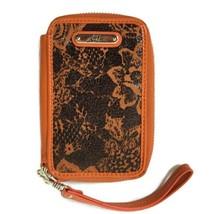 Sharif Women Wristlet Wallet Orange 6 X 4 - $14.50