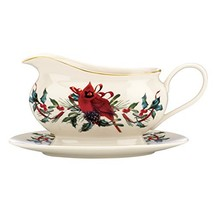 Winter Greetings Entertaining Gravy Boat & Stand - $51.27