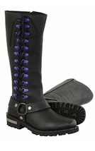 LADIES  14 INCH CLASSIC HARNESS SQUARE TOE LEATHER BOOT W/ FULL LACING  ... - $139.99
