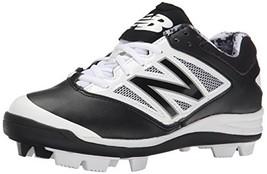 Balance Low-Cut 4040v3 Kids Rubber Molded Baseball Cleat Black/White - $42.83