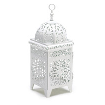 White Scrollwork Candle Lantern 10038332 - $18.88