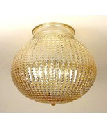 Gold Iridescent Ball Light Shade Glass Globe Flush Mount Ceiling Fan Vin... - $12.95