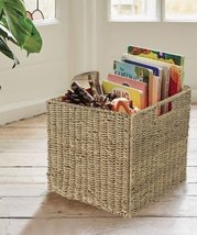 Wicker Seagrass Storage Cube Basket |  Seagrass Storage Bin for Organiza... - £23.58 GBP+