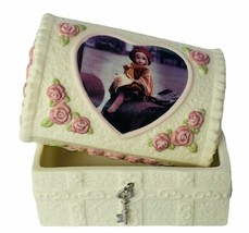 Pretty as Picture Kim Anderson figurine Take time Holiday jewelry box Christmas - $28.98