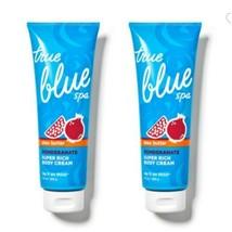Bath And Body Works True Blue Spa Shea Butter Pomegranate Rich Body Cream X 2 - $64.35