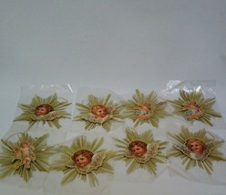 Kurt Adler Santas World Victorian Paper Angels Gold Foil 13444 Ornaments 8 - $79.68