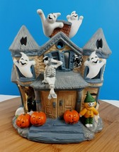 Partylite Tealight Halloween Haunted House Candle Holder Ghost Pumpkin S... - $25.63