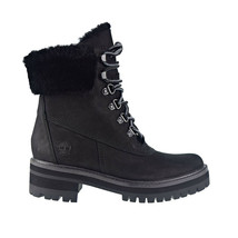 "Timberland Courmayeur Valley 6"" Shearling Women's Boots Black TB0A2947  - $153.00"