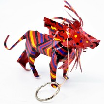 Handcrafted Painted Colorful Recycled Aluminum Tin Can Lion Ornament Zimbabwe image 1
