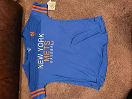 Womens Poly Tee Nee York Mets Small MLB Campus Lifestyle - $14.50