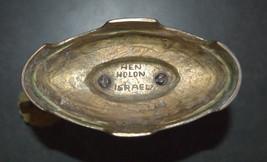 Judaica Shabbat Candlestick Candle Holder Bronze Vintage Israel Hen Holon 1960's image 8