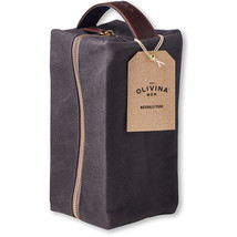 Olivina Men Charcoal Waxed Canvas Travel Bag - $35.00