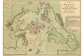Revolutionary War Map, Boston; Lines of British & American Armies; 1775; 2 of 2 - $26.72+