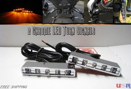 Motorcycle TURN Signals Blinker Rear Front Bike Peg Chrome 5 LED SR50 600RR ZX - $14.36