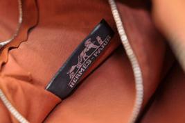 HERMES Acapulco Besace Coton Leather Orange Shoulder Bag Auth 5186 image 12