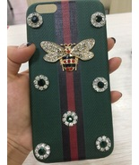 Bee iPhone 7 Case Leather Covers iPhone 7 Plus Case Emerald Rhinestone 6... - $20.00