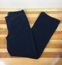Talbots Womens Curvy BoCorduroy Pants Size 10 Navy Blue Cotton Stretch Casual - $14.95