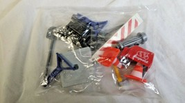 Playmobil Construction Accessory Lot Cones, Tools, Engine - Sealed in bag - $10.95