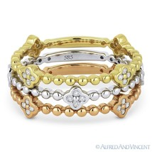 0.35ct Round Cut Diamond Stackable Fashion Rings in 14k White Yellow & R... - $935.99