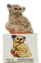 No. 9 Bush Baby Miniature Porcelain Figurine - Picture Box Whimsies by Wade