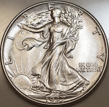 Superb - 1937 P Walking Liberty Half Dollar - Gem BU / MS / UNC - High G... - $78.00