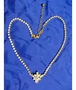 "Monet Gold Crystal Rhinestone Choker Necklace 15""-18"" NWOT - $14.95"